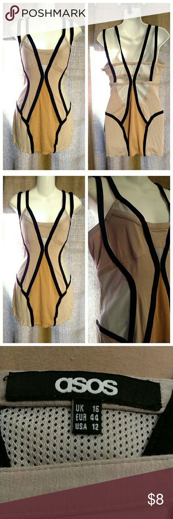 ASOS CURVE bodycon dress wiggle uk16 us12 Used, freshly washed. UK 16 / US 12  Stretchy Shows wear ASOS Curve Dresses