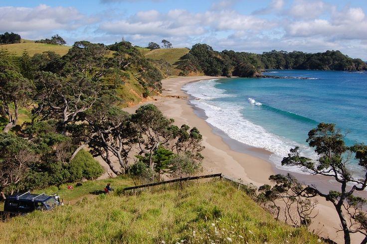 New Zealand beach camping