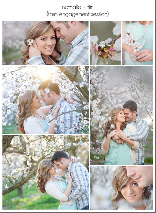 farm inspiration | nathalie + tim farm engagement session The website takes you to a wedding planning site. The photographer is Joleen Wilis