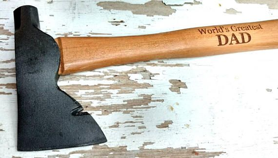 Dad's Hand Axe, Gift for Dad, Camping Axe, Father's Day Hatchet, Father's Day Gift, Groomsman Gift, Best Man Gift, Wooden Hatchet