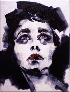 """Saatchi Online Artist Pat Dumez; Painting:  """"La Dame aux camélias   """""""