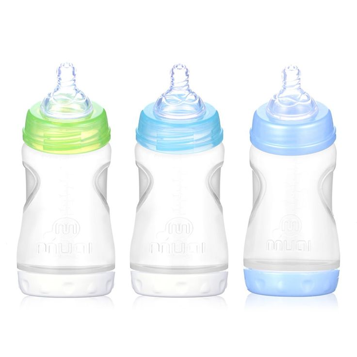 MUAI 3 Pack Angled Feeding Bottles Wide Neck Baby Feeding Bottle Set,10 Ounce,Fast Flow Nipple. BPA free material. 100% food-grade Quality.Fully compliant to FDA standards. Passed Europe CE Quality Security Identification. Leak proof, break proof guarantee. 10oz. bottle with fast flow nipple suitable for 6+ months babies. Angled bottle supports semi-upright feeding position to help prevent ear infections, creates a prefect feeding position for moms and babies. B-inflow vent system keeps…