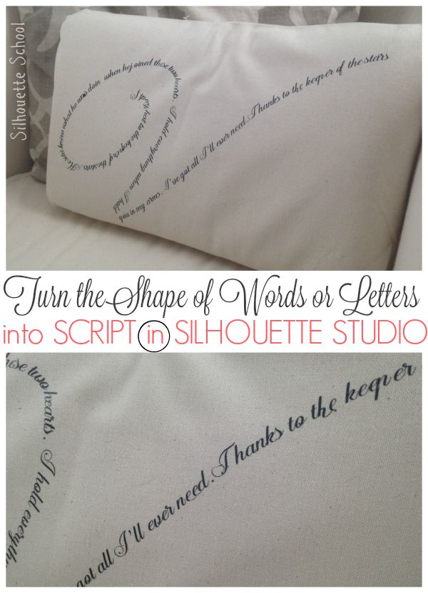 How to Turn the Shape of a Letter or Word into Script in Silhouette studio | Silhouette School | Bloglovin