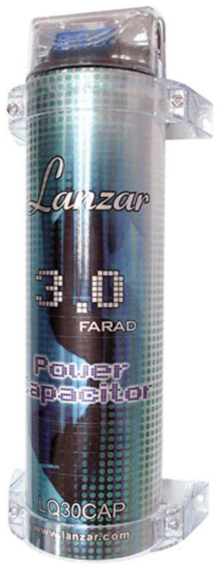 Capacitors: New Lanzar Lq30cap 3 Farad Digital Power Capacitor Car Audio Amplifier Amp Cap BUY IT NOW ONLY: $32.95