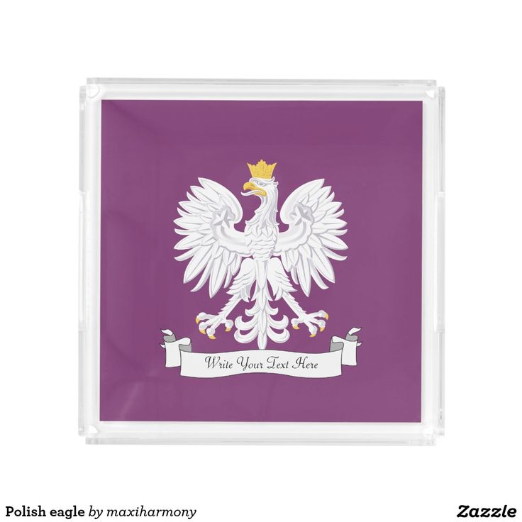 Polish eagle square serving trays