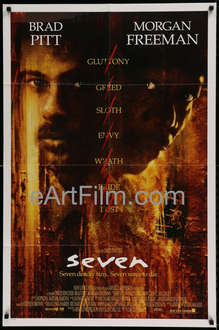 September 15 1995 #Se7en premieres in #NYC https://eartfilm.com/products/seven-brad-pitt-morgan-freeman-david-fincher-1995-international-27x41-one-sheet #DavidFincher #BradPitt #MorganFreeman #KevinSpacey #AndrewKevinWalker #movie #movies #poster #posters #film #cinema #movieposter #movieposters    Seven-Brad Pitt-Morgan Freeman-David Fincher-1995-International-27x41-One Sheet