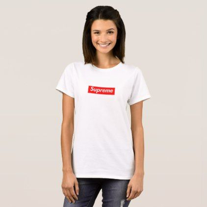 Supreme T-Shirt - red gifts color style cyo diy personalize unique