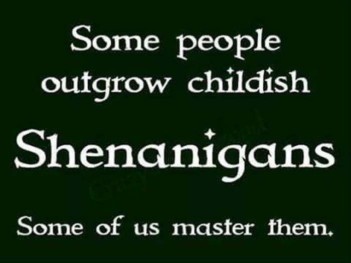 ☘☘ Ïŕἶŝђ €ƴẻŝ Ꭿŕẻ Ꮥ๓ἶℓἶภ' ☘☘☘♧♣♧♣☘  SHENANIGANS Some of us master them.