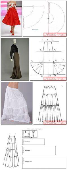 El patrón de la falda en el suelo | WomaNew.ru - las lecciones del corte y la costura.