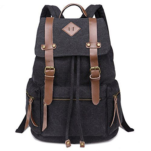 iDream - 2014 nouveau sac à dos sac en toile d'épaule pour école hiking camping randonnée voyage etc. - 32cm * 18cm * 43cm - pour ordinateur jusqu'à 14'' (Noir) iDream http://www.amazon.fr/dp/B00JF5WBF8/ref=cm_sw_r_pi_dp_FMeEvb0DSV2S4