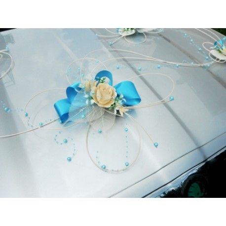 dekorace na auto- blue romantic