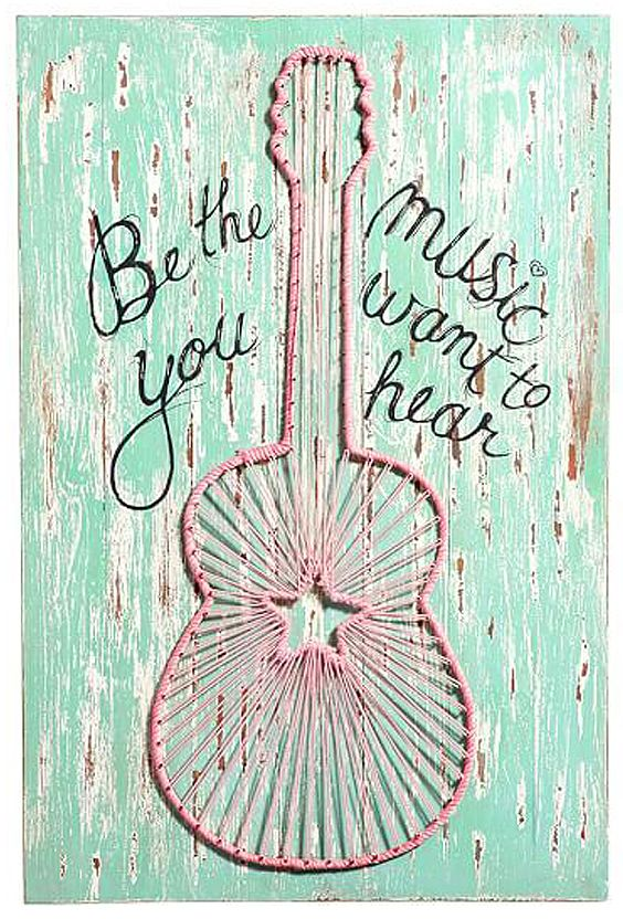 be the music you want to hear JUNK GYPSY wall art // PBteen