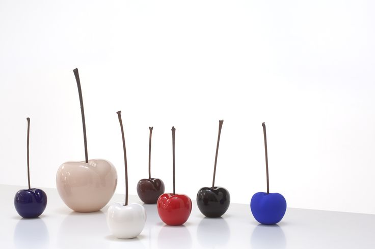 Gorgeous, glorious ceramic cherries, all sizes, all colours, for inside and outside