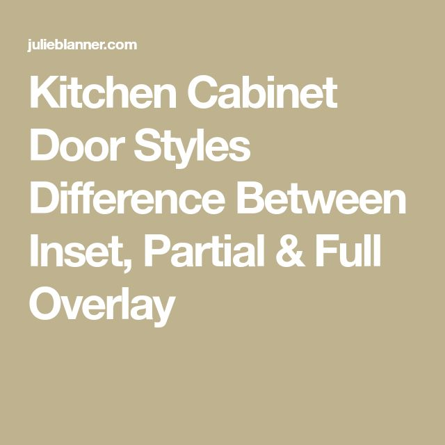 Kitchen Cabinet Door Styles Options: Best 25+ Cabinet Door Styles Ideas On Pinterest