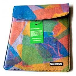 Ipad Hülle, hergestellt aus recyclierten Plasticsäcken.  #NachhaltigSchenken