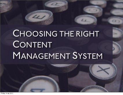Choosing the right Content Management System by Rachel Andrew