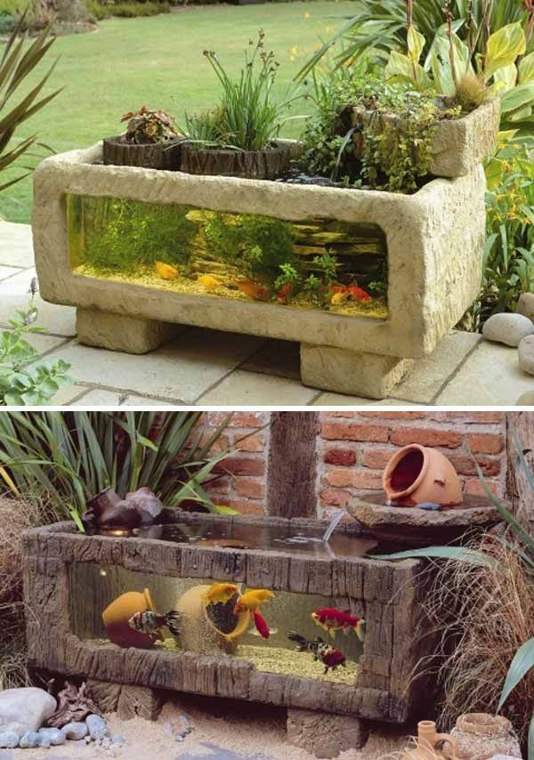 22 small garden or backyard aquarium ideas will blow your mind - Diy Garden Pond Ideas