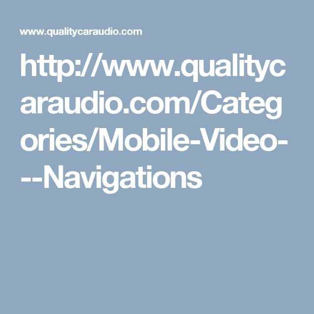 Mobile Video-Shop Mobile And Accessories From Quality Car Audio, we provide online products like Car&Video, Mobile Video, Cars With TV choosing the best at qualitycaraudio.com Store