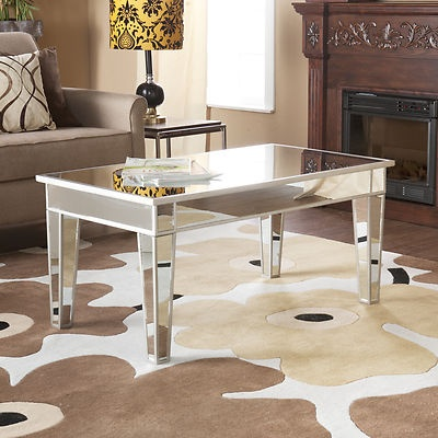 Awesome Mirage Mirrored Mirror Glass Cocktail Coffee Table Furniture CK9166 SEI