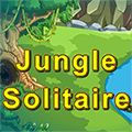 Jungle Solitaire - http://www.allgamesfree.com/jungle-solitaire/  -------------------------------------------------  Pyramid Solitaire set in the Jungle. Remove 2 free cards that have a total value of 13 (K=13, Q=12, J=11, A=1).   -------------------------------------------------  #BoardGames