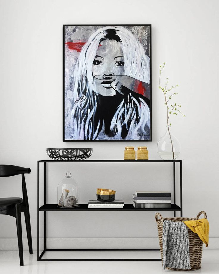 GICLEE PRINT Kate MOSS Stretched Ready To Hang Large Art Print Modern Art Print Decor Wall Art Painting Made to Order by Kathleen Artist