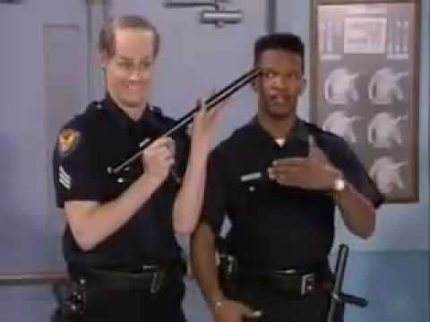 Jim Carey with another of his funny videos from Living Coluor.Police Academy