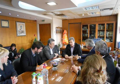 αντιπλημμυρικά έργα, Ίλιον, Μιχάλης Χρυσοχοίδης, υπουργός Μεταφορών, σύσκεψη, ρέμα Εσχατιάς, ΑΣΔΑ