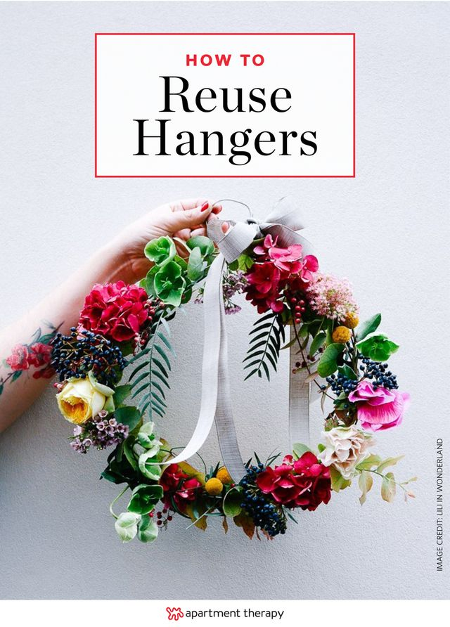 Clever Ways to Reuse Clothes Hangers Around the House | Before you throw them out with your summer sandals that finally reached their demise, check out these clever ways to reuse and repurpose your wooden and wire hangers in other areas of the home.