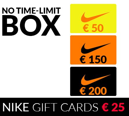 Nike Gift Cards - Buy these Gift Cards for € 25 or get 100%Cashback!