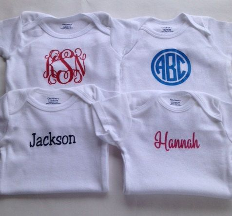 The 25 best monogram onesies ideas on pinterest baby girl monogram onesies personalized onesie baby shower gift baby gift baby clothes negle Image collections