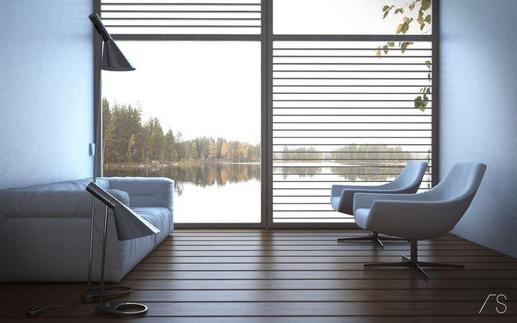 Lake Interior wwwarchitectsolutions #3d #architecture #art - weko k chen eching