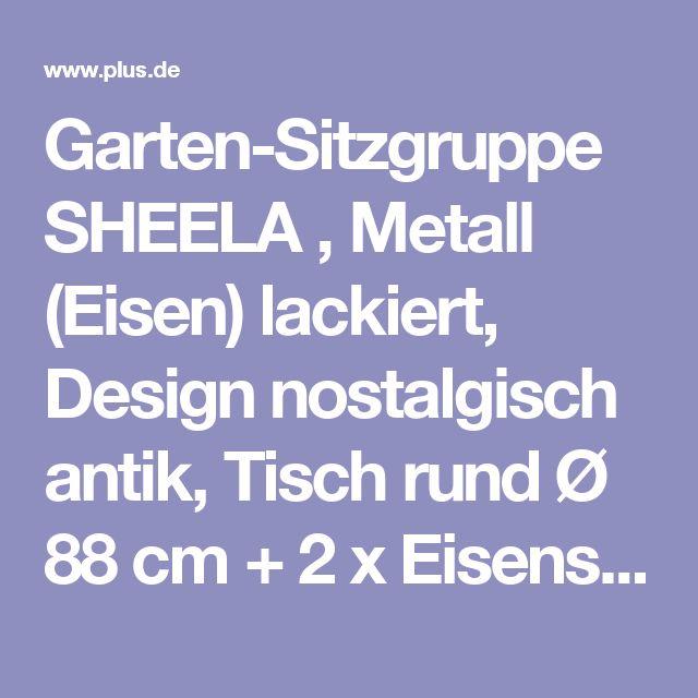 Popular Garten Sitzgruppe SHEELA Metall Eisen lackiert Design nostalgisch antik Tisch