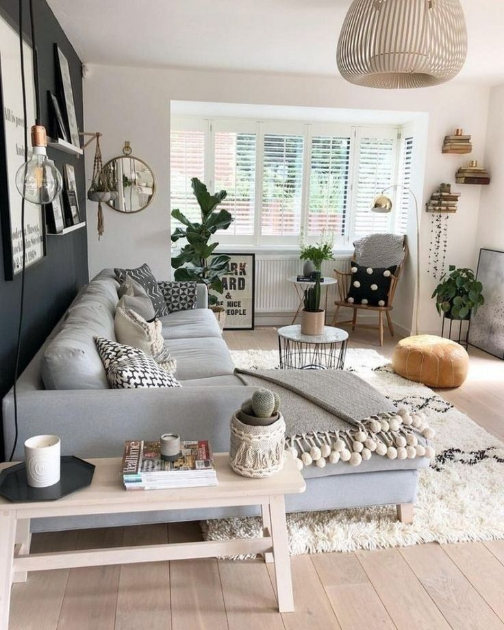 60 cozy Scandinavian living room decoration idea …