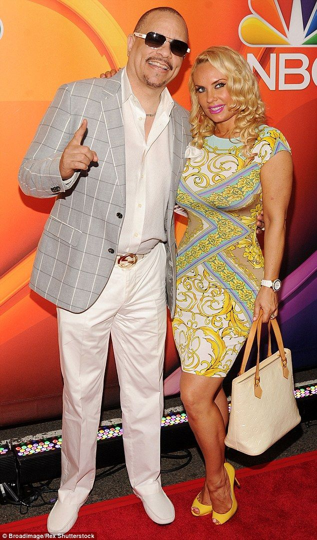 Parents-to-be: Ice-T (left in New York on May 11) and wife Coco Austin (right) are reportedly expecting their first child together