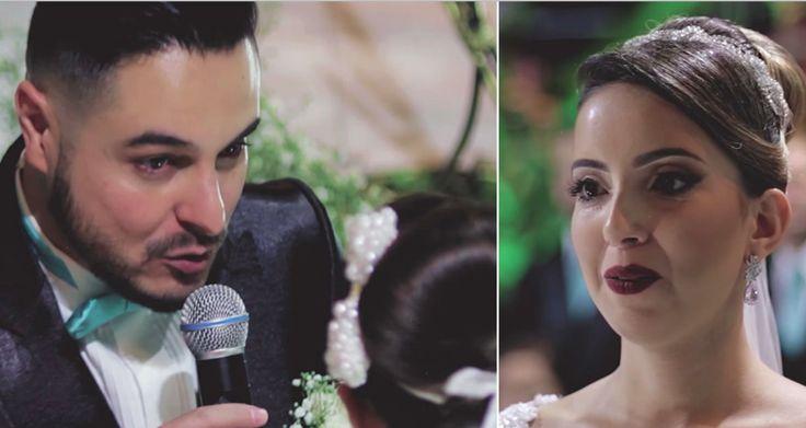 De bruid is klaar om zijn gelofte te horen - Maar dan richt hij zich plots tot iemand anders?