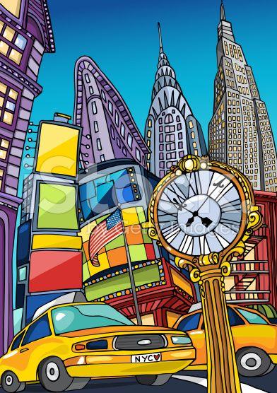 Love Manhattan royalty-free stock vector art