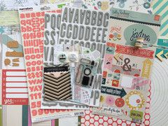 French Kiss - April 2014 Scrapbooking Kit @ Polly! Scrap Kits
