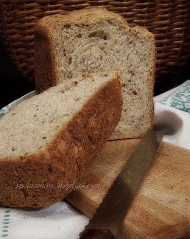 Eh si, questo pane ha un grande difetto, ha un sapore così buono che me lo mangio anche da solo.   Poco tempo fa avevo trovato questa...