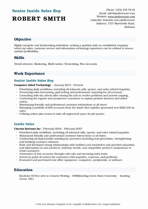 Inside Sales Resume Example Best Of Inside Sales Job Description Resume New Inside Sales Rep Sales Resume Examples Job Resume Examples Job Resume Samples