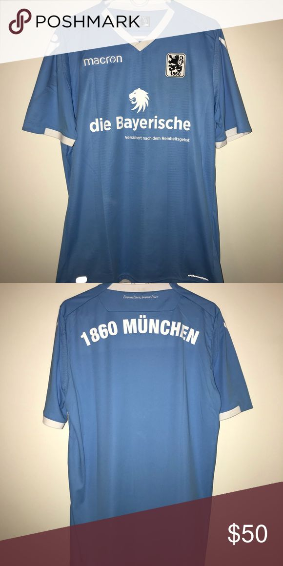 Officail Macron 1860 Munich Jersey Italia sizing fits like an XL Shirts Tees - Short Sleeve