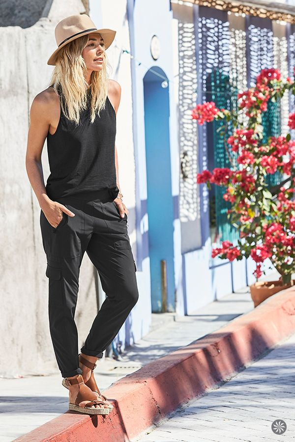Hello, new favorite travel pant. Think flattering tapered legs, pockets galore, and fabric that's breathable, quick-drying, wrinkle-resistant, and UPF 50+. And our Chelsea Cargo Collection is made from supremely sleek sustainable fabrics, so it's good for the earth, too.