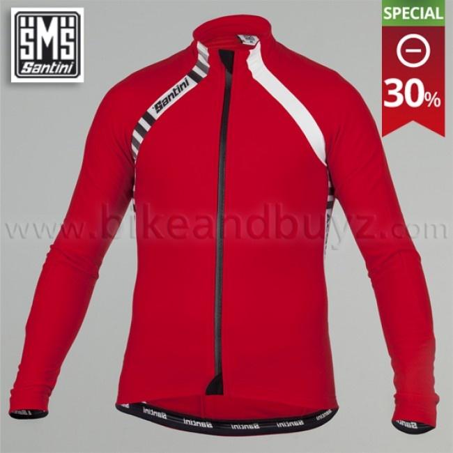 Maglia ciclismo manica lunga Santini Feel con trattamento Acquazero rosso. Santini Feel Acquazero long sleeve jersey red    #cyling #ciclismo #jersey #santini