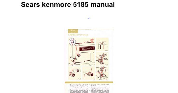 sewing machine model 1241 manual