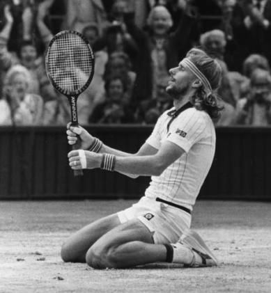 Bjorn Borg at Wimbledon in '79.  I'll never be a bigger fan of a tennis player than Borg...EVER.