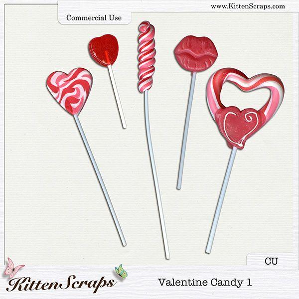 Valentine Candy 1 {CU} CU Product by KittenScraps, Digital Scrapbooking,