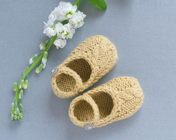 Baby Booties Knitting Pattern A Mary Jane Style Baby Shoe