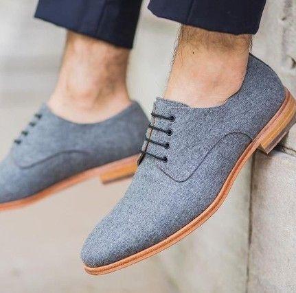 Zapatos de cordones casuales británicos vintage para hombres   – 男性时尚