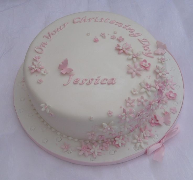 Christening cake - girls