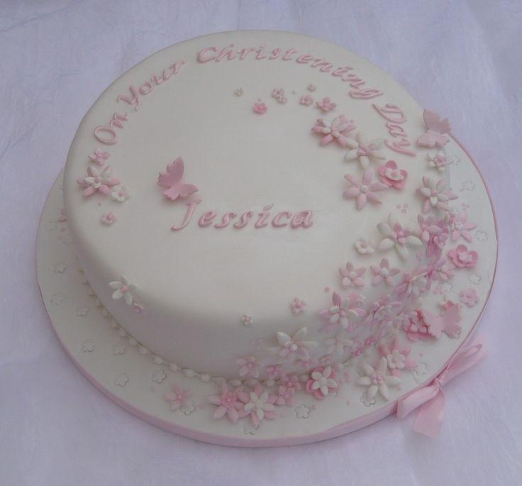 Christening cake - girls