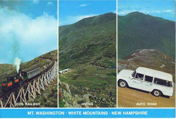Set of 4 Large 6 x 9 inch Postcards of Mount Washington New